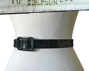 Vintage Patent Leather Adele Simpson Belt