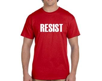 Resist Men's T Shirt Anti Donald Trump Protest Tee Political Rally Resist Trump Tee