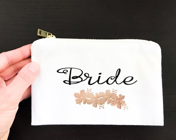 Featured listing image: Customized Makeup Bag // Cosmetic Tote // For Brides & Bridesmaids