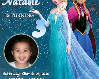 Frozen Invitation Frozen Birthday Party Invitation Disney