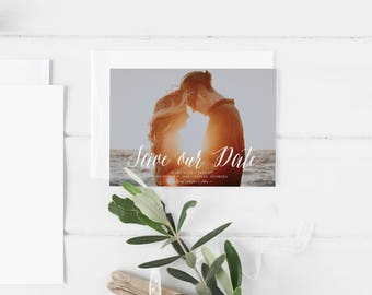 Photo Save the Date Template,Save the Date Printable, Photo Save the Date Printable,Picture Save the Date Template, Photo Save the Date