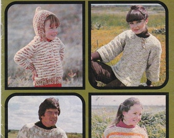 ON SALE Patons Knitting Cottage Knit  - Vintage 1970s Men, Women, Children Knitting Pattern No 515