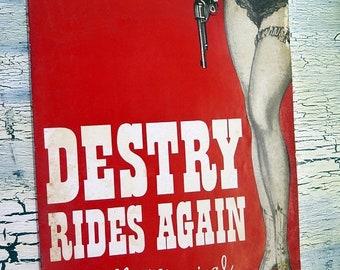 BTS Destry Rides Again Andy Griffith & Dolores Gray Souvenir Program 1959