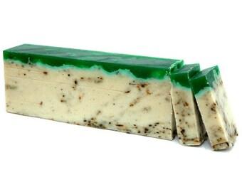 Green Tea Soap Slice, Olive Oil Soap, SLS Free, Paraben Free, Soap Slice, Exfoliating Soap, Bath, Soap Bar, Gift for her for him.