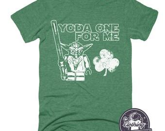 Yoda One For Me T-Shirt | Funny Star Wars T Shirt | St Patricks Day Shirt | Shamrock Shirt | Irish Gifts | Mens Tshirt | Womens Graphic Tee