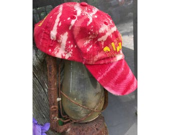 Reworked Upcycled Ruby Falls Distressed Baseball Cap