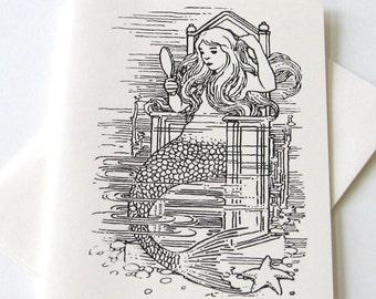 Mermaid Notecards - Set of 10