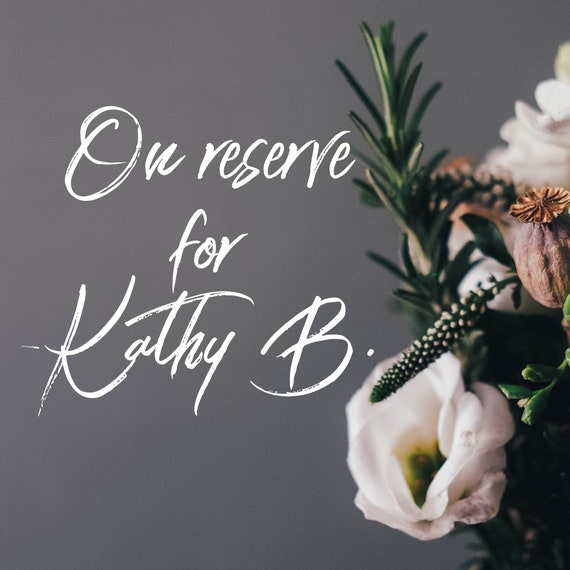On Reserve for Kathy B. - Do Not Purchase.
