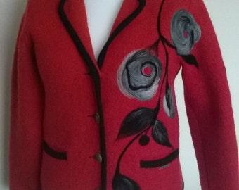 100% Woolen jacket, needle felting