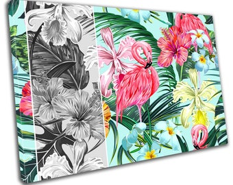 Floral Animal Tropical Canvas Print Home Decor Abstract Wall Art