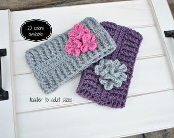 Ear Warmers, Crochet Headband, Ear Warmer Headband, Knit Ear Warmer, Crochet Ear Warmer, Neck Warmer, Winter Accessory, Free US Shipping