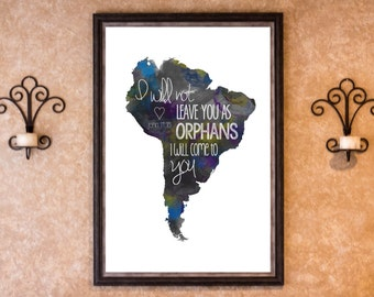 Home Decor - Adoption - South America Graphic Art