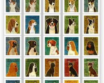 "Gift for Girlfriend, Pick Your Pooch 11""x14"" Custom Dog Art Print, Dog Print, Dog Art Gifts, Dog Artwork"