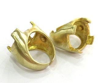 Raw Brass Adjustable Ring Blank (18mm Blank)  G3319