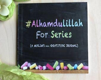 Everyday gratitude mini islamic journal Alhumdulillah for series by Ayeina