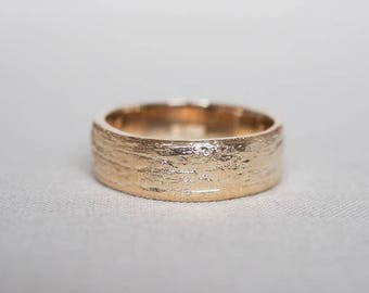 Solid Gold Love Is An Ocean Ring Wide Band