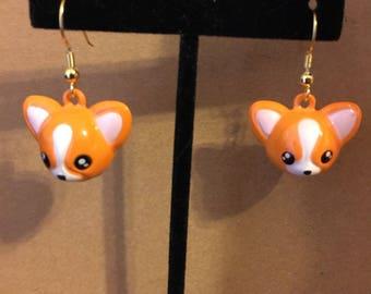 Corgi love earring