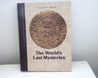 The World's Last Mysteries, Reader's Digest, world history, college gift, graduation gift, gifts for eaders, personal library, mystery book