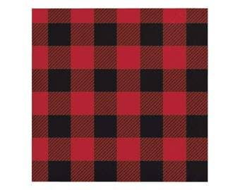 Buffalo Plaid Beverage Napkins - Lumberjack Party - Buffalo Plaid Baby - Woodland Baby Shower - Baby Lumberjack - Bear Baby Shower - Deer