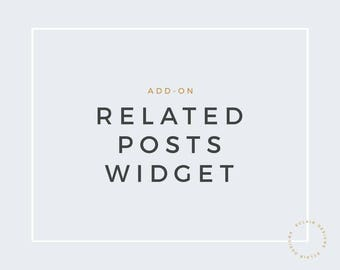 Related Posts Widget - for Blogger/Blogspot/Wordpress
