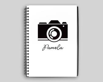 Camera Notebook ~ Personalized Camera Journal ~ Photographer Diary ~ Photographer Notebook ~ Photographer Gift