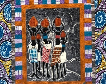 On Sale Sunday Morning Motherhood 36x41 inch art quilt