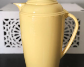 Vintage Yellow Fiestaware Thermos Coffee Carafe