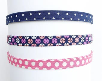 Headband for women | Navy and Pink