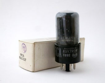 RCA 6SL7GT vacuum tube - smoked glass- original box  - new old stock - excellent condition - packed May 1959