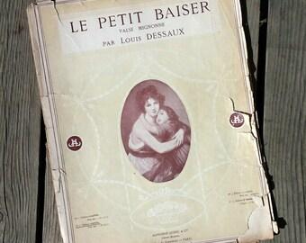 """Partition """"Small Kiss"""" cute Louis Dessaux 1945 vintage Waltz"""