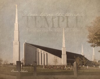 Boise LDS Temple (after remodel) Print 16x20