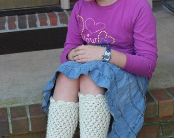 Leg Warmers Crochet PATTERN - Girls and Women - Leg Warmers - Scarlett Design
