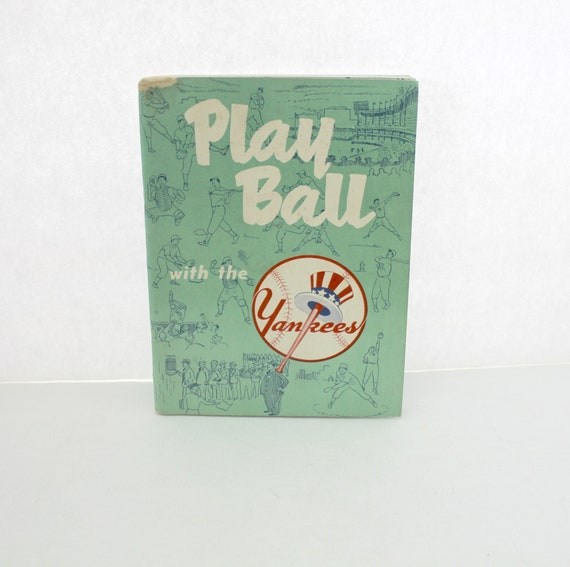 Vintage 1952 Play Ball With The Yankees Recruiting Program Book | Mickey Mantle Joe DiMaggio Collins