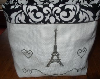 Embroidered EIFFEL Tower hand tidy