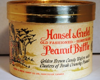 VTG Hansel & Gretel Old Fashioned Peanut Brittle Candy Box