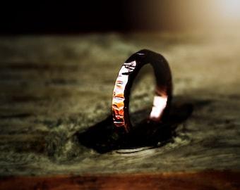 Copper Ring, Men's Copper Ring, Sturdy  Round 4mm Copper Ring, Men Rustic Copper Ring, Arthritis  Copper Ring, Dark Copper Wedding Band,