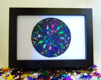 Colourful Papercut Mandala Original Artwork