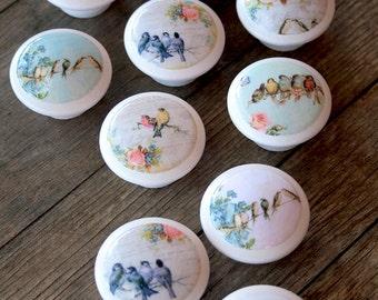 Vintage boutons oiseaux à chanter à moi 2 pc ensemble