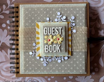 Wedding Guest Book Rustic-country-Shabby Chic