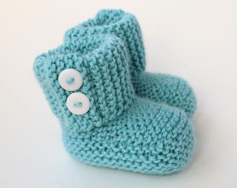 Baby Booties Knitting Pattern, Baby Boots Pattern, Easy Baby Pattern, Instant Download PDF Pattern, Knit Baby Pattern - MARLOW