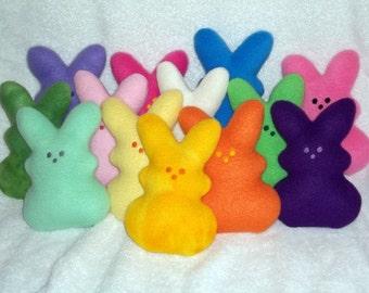 Handmade Stuffed Pink  Rabbit - Fleece, Child Friendly - Easter bunny - softie