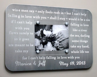 Metal wedding song frame engraved with your first dance