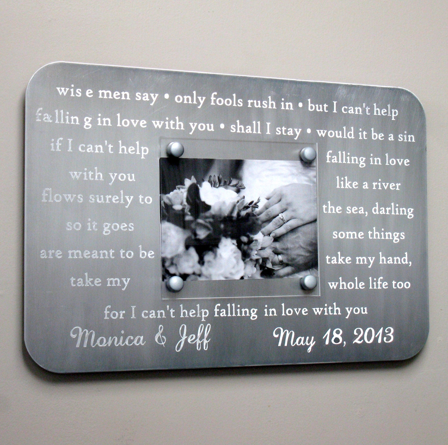 Metal wedding song frame engraved with your first dance zoom jeuxipadfo Gallery
