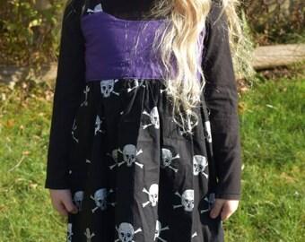 Skull and Cross Bone Halloween Children's Dress