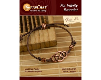 DIY Leather Bracelet Kit  - TierraCast For Infinity Bracelet Do It Yourself Kit - TierraCast Quick Kits Copper Jewelry