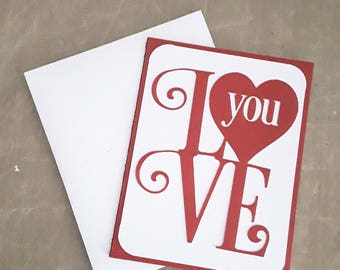 Love Greeting Card, Valentines Card,