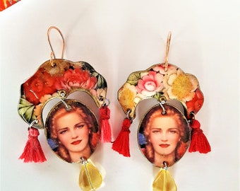 "Earrings ""Russkaya skin"" OOAK"