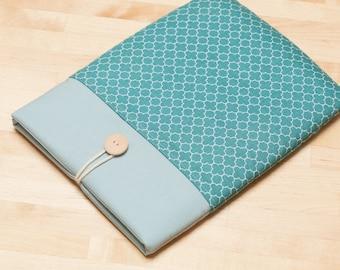 iPad 12.9 case, iPad Pro 12.9 sleeve, 12.9 inch iPad Pro case,  iPad Pro cover - Quatrefoil teal