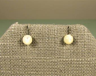 Mother of Pearl Earrings - 5 mm MOP Ball Pierced Stud