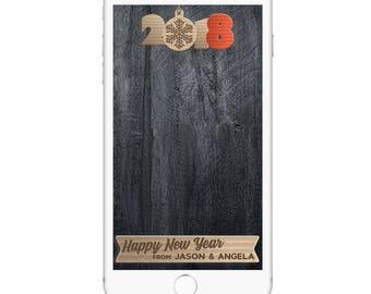 New Years Eve Snapchat Filter, New Years Geofilter, New Years Eve Party, Vintage, Happy New Year, Country New Years, Retro New Years Eve